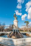 The Fountain of the Fallen Angel in Madrid, Spain. royalty free stock photography
