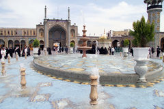 Fountain in Fatima mosque Royalty Free Stock Photography
