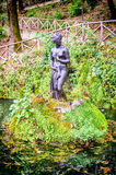 Fountain with female statue inside the Villa Vecchia, Cosenza Royalty Free Stock Photography