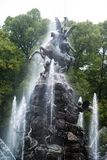 Fountain figures in front of castle Herrenchiemsee Royalty Free Stock Images