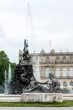 Fountain figures in front of castle Herrenchiemsee Stock Image