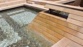 Fountain. Filmed in Yambol Bulgaria stock footage