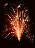 Fountain of fire. A firework fountain on a dark background Stock Photo