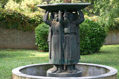 Fountain with five women figures, representing peoples of Yugoslavia Royalty Free Stock Photo
