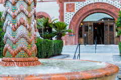 Fountain in Flagler College St. Stock Images