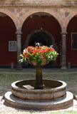 Fountain with flowers. Peru Royalty Free Stock Image