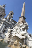 Fountain Fontana dei Fiumi in Rome, Italy Stock Photography