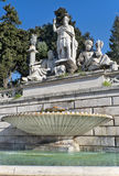 Fountain at the foot of statue of Romulus and Remus, the founders of Rome Royalty Free Stock Image
