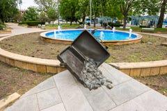The fountain on the forecourt in Burgas, Bulgaria Stock Image