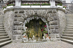 Fountain in the form of the cave in Rapperswil Stock Photo