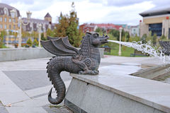 Fountain in the form of figure of Zilant in Kazan Royalty Free Stock Images