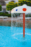 Fountain in the form of a mushroom in children's pool Royalty Free Stock Photo
