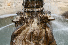 Fountain in the form of traditional Chinese dragon, Xian Stock Images