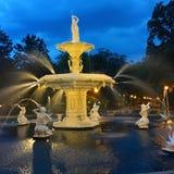 Fountain in Forsyth Park, Savannah stock photo