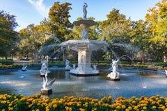 Fountain in Forsyth Park, Savannah royalty free stock image