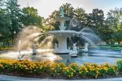 Fountain in Forsyth Park, Savannah royalty free stock photos