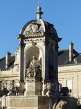 Fountain of the Four Bishops, Place Saint Sulpice, Paris Royalty Free Stock Photography