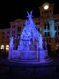 The Fountain of Four Continents in Trieste. The Fountain of Four Continents built in Trieste on seventeenth century to magnify the trading power of the city Royalty Free Stock Photography