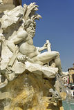 Fountain of the four Rivers Royalty Free Stock Photo