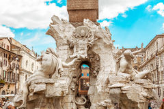 Fountain of the Four Rivers Stock Photography
