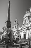Fountain of Four Rivers in the Piazza Navona Royalty Free Stock Photo
