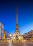 Fountain of the Four Rivers in Piazza Navona Royalty Free Stock Images