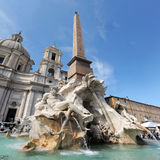 Fountain of four rivers in Piazza Navona, Rome Stock Image