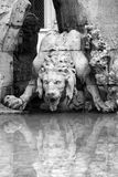Fountain of the Four Rivers in Piazza Navona, Rome Stock Images