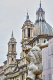 Fountain of four rivers in Piazza Navona Royalty Free Stock Photography