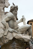 The Fountain of the Four Rivers - Piazza Navona, Rome, Royalty Free Stock Photography