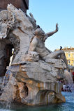 Fountain of Four Rivers at Piazza Navona, Rome Ita Royalty Free Stock Image