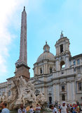 Fountain of the Four Rivers Rome Royalty Free Stock Photo