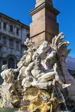 Fountain of the four Rivers, Rome Stock Photo