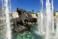 Fountain of the Four Season, Moscow, Russia Royalty Free Stock Image