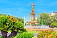 Fountain of the Four Seasons in the centre of Seville, Spain. Fountain of the Four Seasons Fuente de las Cuatro Estaciones in the centre of Seville, Spain royalty free stock photos