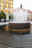 Fountain on Freedom square (namesti Svobody), Brno Stock Photo
