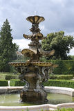 Fountain in French Park garden in  Lednice in Czech Republic in Stock Photos