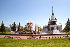 Fountain friendship of the nations, Moscow Royalty Free Stock Photography
