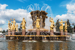 Fountain Friendship of nations in Moscow, Russia Stock Images