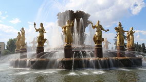 Fountain Friendship of Nations-- VDNKH, Moscow, Russia stock video footage