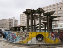 The Fountain of the Friendship of the People, Alexanderplatz, Berlin, Germany. stock images