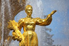 Fountain of friendship of the people. Moscow. Stock Image