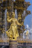 Fountain friendship of the people, Moscow Stock Photos