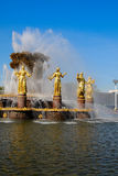 Fountain Friendship of Peoples at the Exhibition Center. Royalty Free Stock Photo