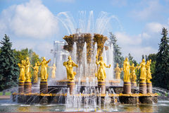 Fountain Friendship of Peoples at the Exhibition Stock Photography