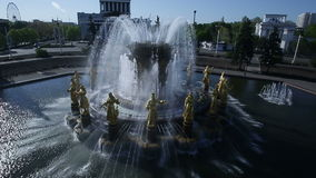 Fountain of friendship of peoples stock footage