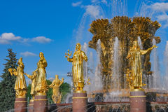 Fountain Friendship of the Peoples in Moscow Royalty Free Stock Image