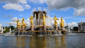 Fountain Friendship of peoples stock video footage