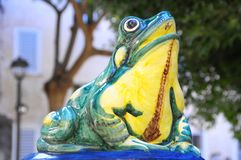 Fountain Frog Royalty Free Stock Photos