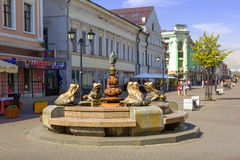 Fountain Frogs. Kazan, Russia Stock Images